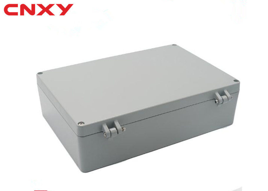 Dustproof metal IP66 customized pcb enclosure aluminum junction box switch box grey 340*235*95 mm